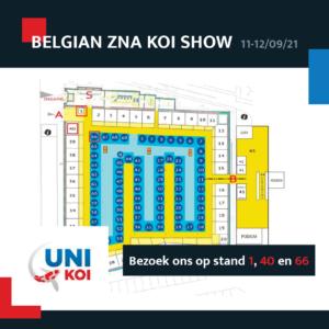 Belgian Koi Show zaalplan